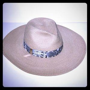 Eugenia Kim Hemp Snakeskin Sun Hat